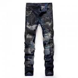Studded Rocker Jeans Blue