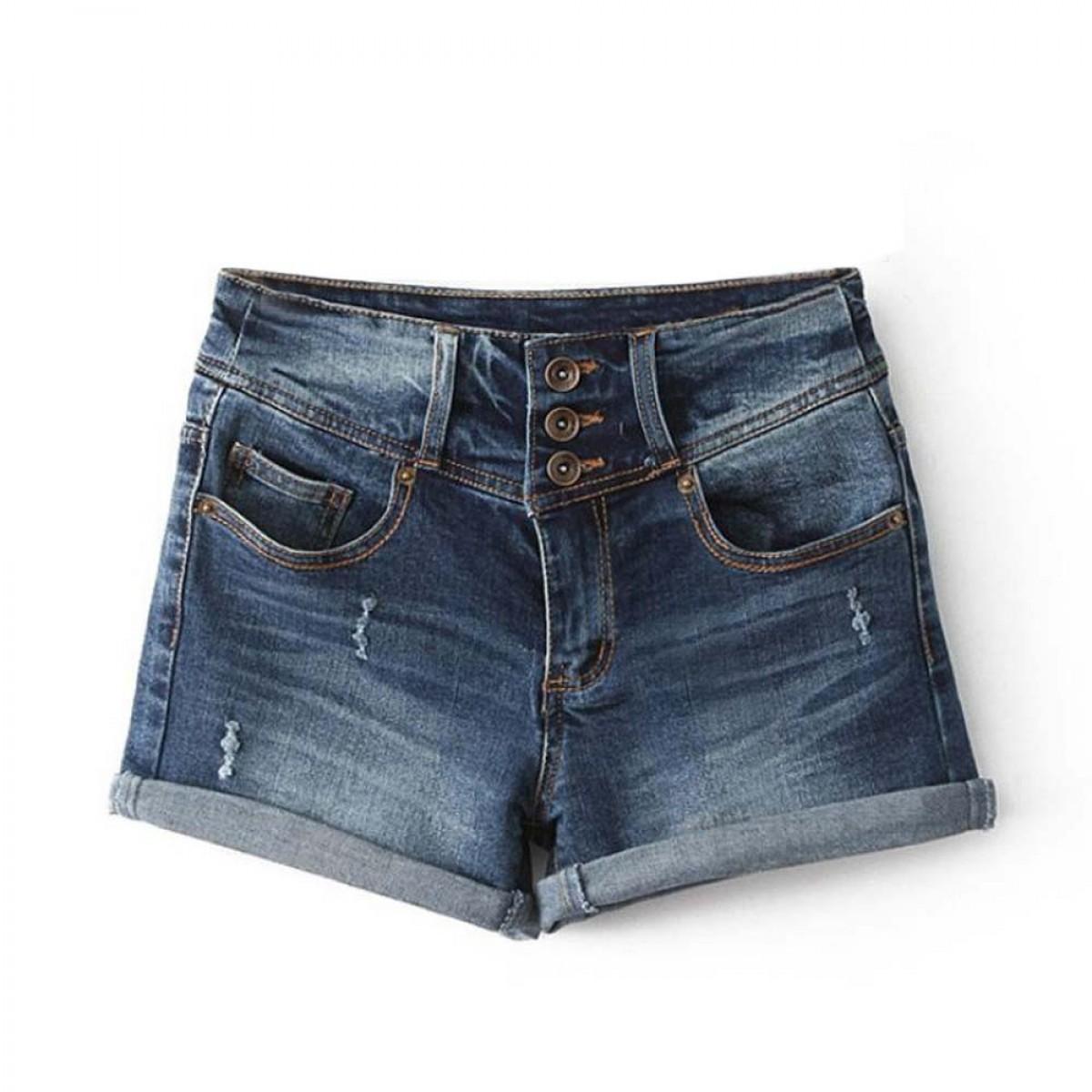 Classic 90 s Denim Shorts Women Loose Fit | LATICCI
