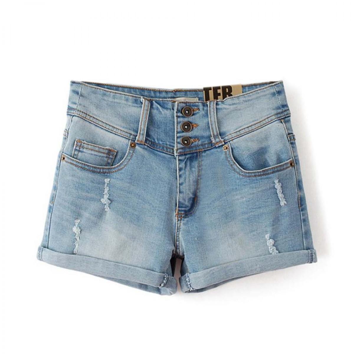 90 s Light Denim Shorts Loose Fit Women | LATICCI