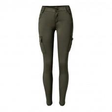Olive Jeggings Side Pockets