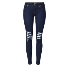 Navy Blue Jeggings Ripped Knees