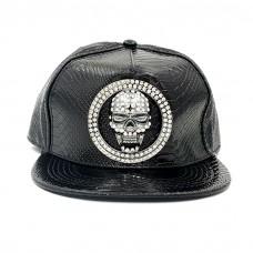 Rhinestone Skull Cap
