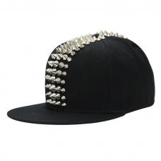 Spiked Hat Black Denim Silver Spikes