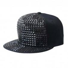 Studded Black Cap