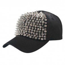 Spiked Baseball Hat Black