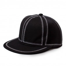 Hip Hop Cap White Stitching