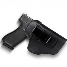 Black Leather Gun Holster Glock 17