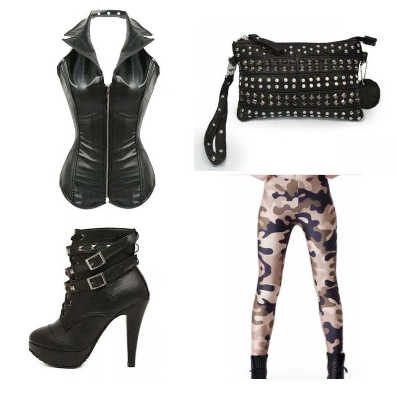 Corset Outfit Camo Leggings