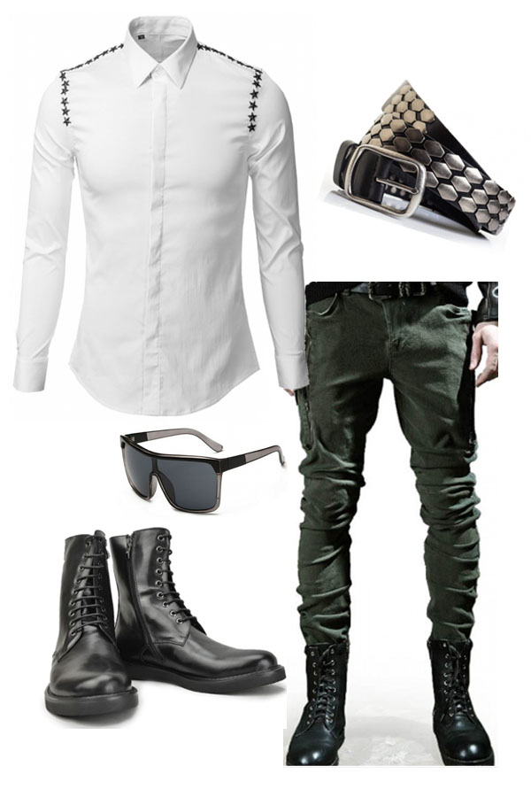 Smart Outfit with Military Jean and Boots