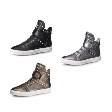 High Top Sneakers with Studs Metal
