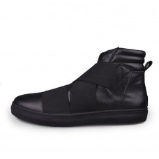 Ninja Sneaker Hightop Leather Black