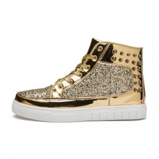 Gold Glitter High Tops
