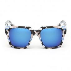 Camo Frame Sunglasses Blue Glass