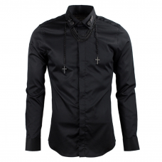 Mens Smart Shirt with Collar Chain