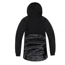 Leather Hoodie