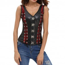 Casual Corset Red and Black