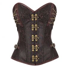 Brown Corset Brocade