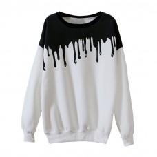 Spilled Paint Print Sweatshirt