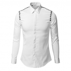 Dress Shirt Studded Shoulder Line