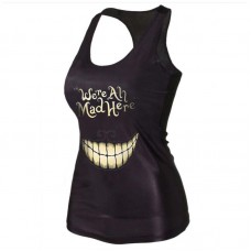 We Are All Mad Here Tank Top Black