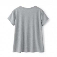 Lips T Shirt Grey
