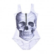 Skull Bathing Suit White