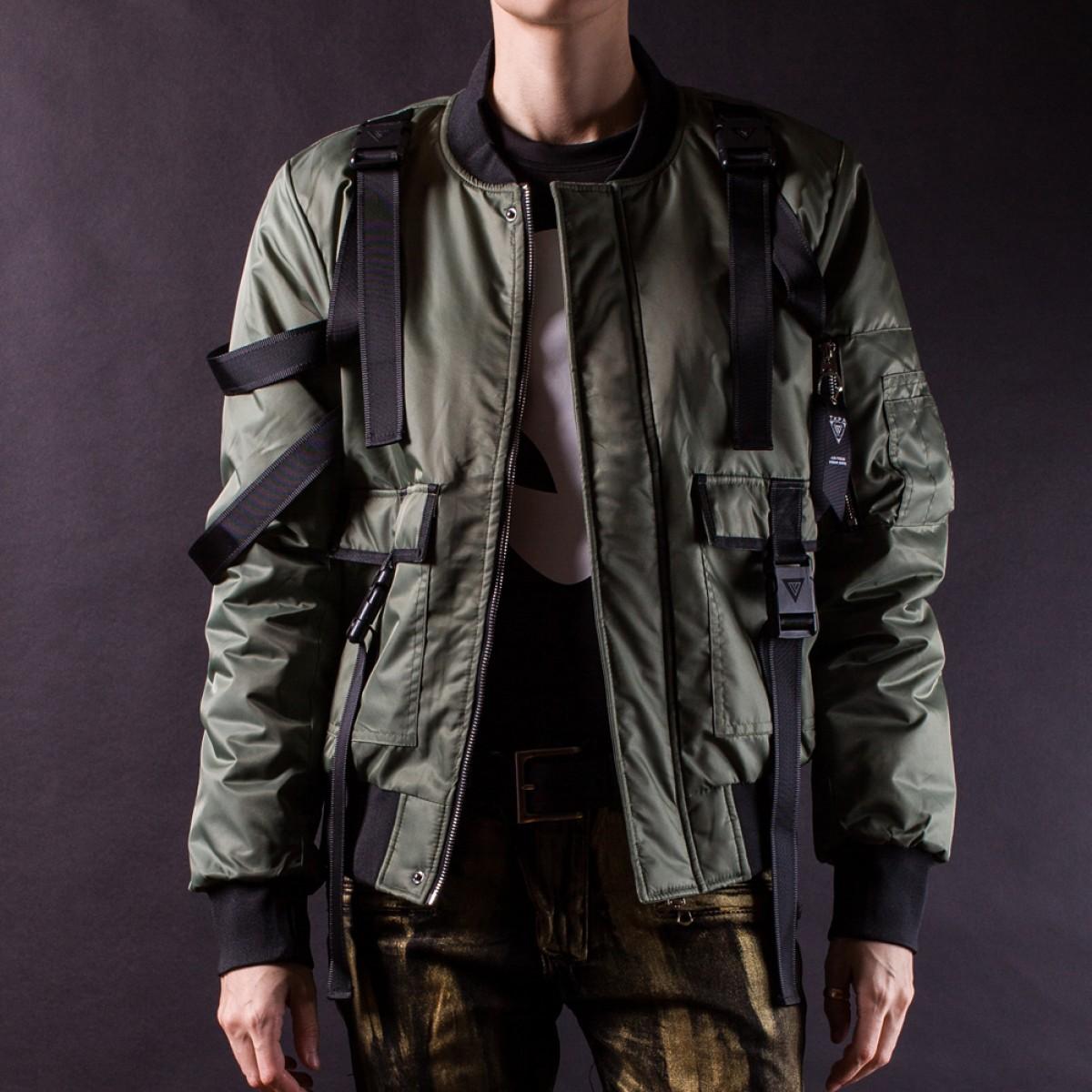 Parachute Bomber Jacket Black Sizes M L XL LATICCI