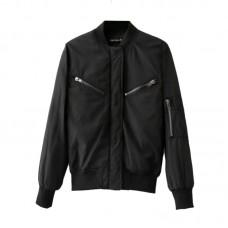 Skinny Bomber Jacket Black