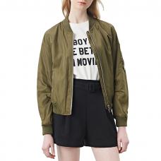 Olive Bomber Jacket Womens