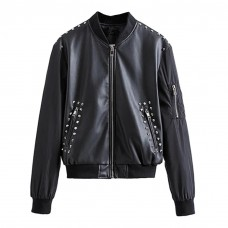 Womens Bomber Jacket with Embroidery