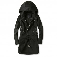 Black Hooded Jacket Women's