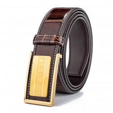 Mens Croc Leather Belt